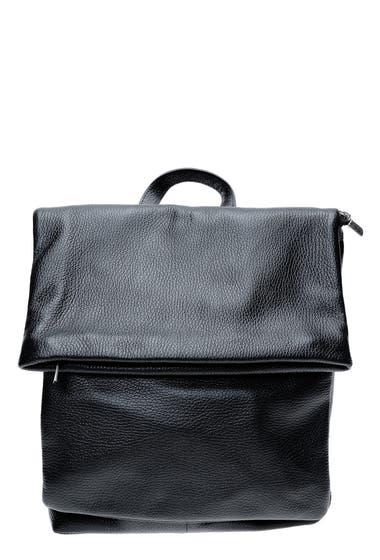 Genti Femei Isabella Rhea Top Handle Leather Backpack Nero image0