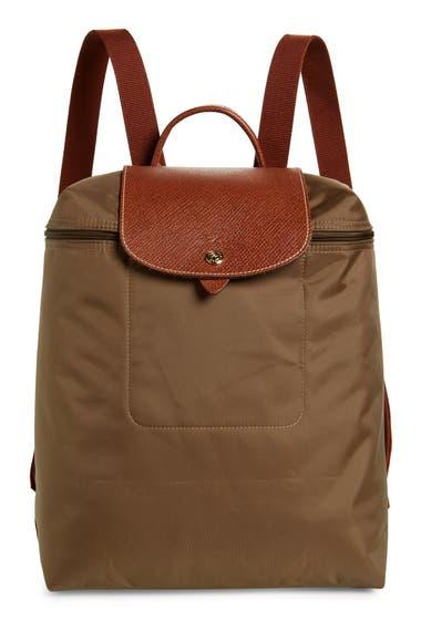 Genti Femei Longchamp Large Le Pliage Canvas Backpack Khaki image0