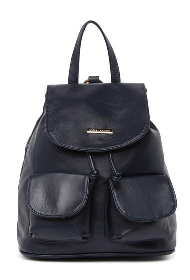 Genti Femei Sofia Cardoni Leather Backpack Blu image0