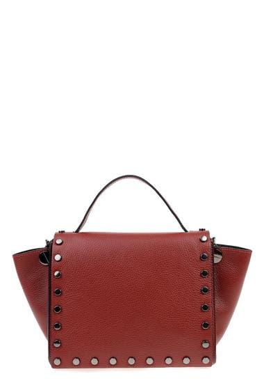 Genti Femei Carla Ferreri Leather Shoulder Bag Vino image0
