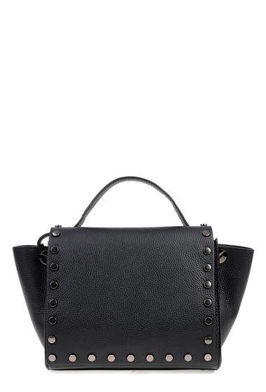 Genti Femei Carla Ferreri Leather Shoulder Bag Nero image0