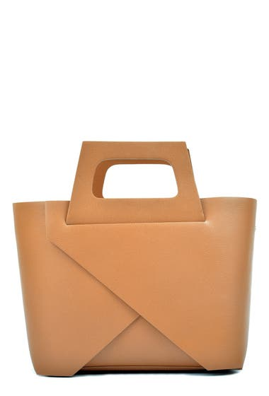 Genti Femei Carla Ferreri Leather Tote Bag Cognac image0