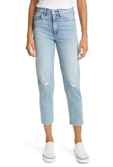 Imbracaminte Femei RAG AND BONE rag bone Nina High Waist Distressed Raw Hem Ankle Cigarette Jeans Starway image0