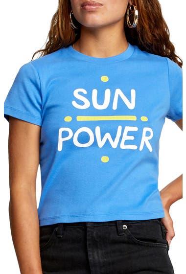 Imbracaminte Femei RVCA Sun Power Short Sleeve T-Shirt Ultra Blue image0