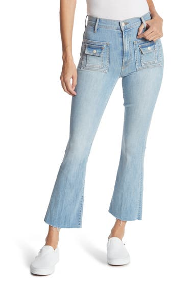 Imbracaminte Femei MOTHER The Snapped Hustler Ankle Fray Jeans Its Kinda My Thing image0
