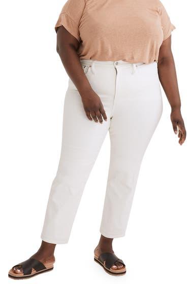 Imbracaminte Femei Madewell High Waist Slim Boyfriend Jeans Tile White image0