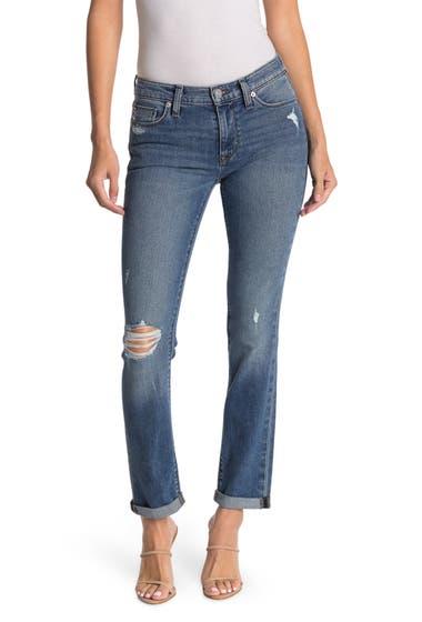 Imbracaminte Femei Hudson Krista Distressed Low Rise Straight Leg Jeans Petra image0