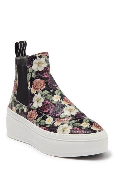 Incaltaminte Femei P448 F20 Lucy Floral Snake Embossed Chelsea Sneaker Flowers image0