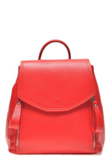 Genti Femei Carla Ferreri Leather Backpack Rosso image0