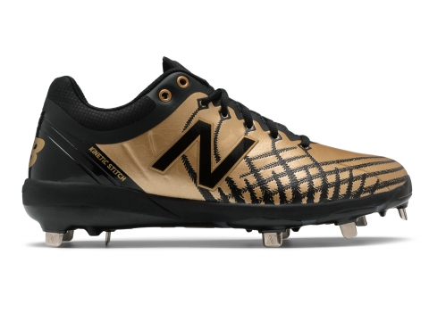 Incaltaminte Barbati New Balance Low-Cut 4040v5 All Star Event Metal Baseball Cleats Gold with Black image0