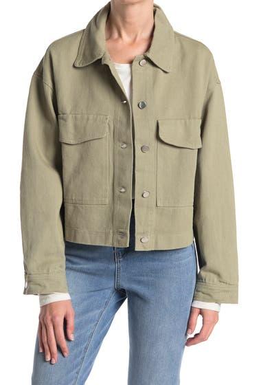 Imbracaminte Femei Know One Cares Boxy Denim Jacket Sage image0