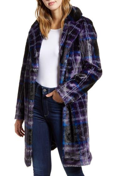 Imbracaminte Femei Sam Edelman Plaid Faux Fur Jacket Blanket Plaid image0