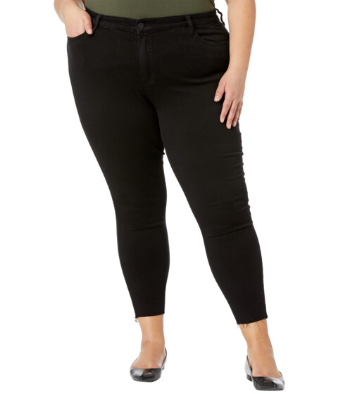 Imbracaminte Femei KUT from the Kloth Plus Size Donna High-Rise Ankle Skinny Raw Hem in Black Black image0