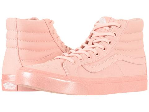 Incaltaminte Femei Vans SK8-Hi Slim (Metallic Glitter) Silver Pink
