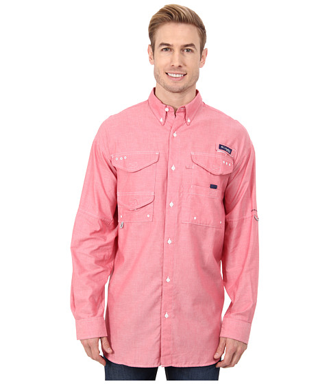 Imbracaminte Barbati Columbia Super Bonehead Classictrade Long Sleeve Shirt Sunset Red Oxford
