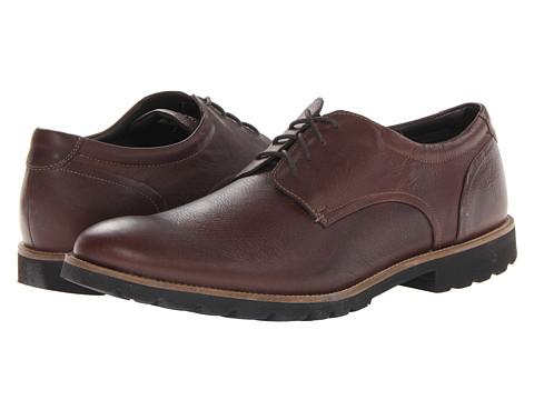 Incaltaminte Barbati Rockport Colben Plain Toe Oxford Chocolate Brown