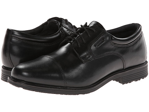 Incaltaminte Barbati Rockport Lead The Pack Cap Toe Black WP Leather