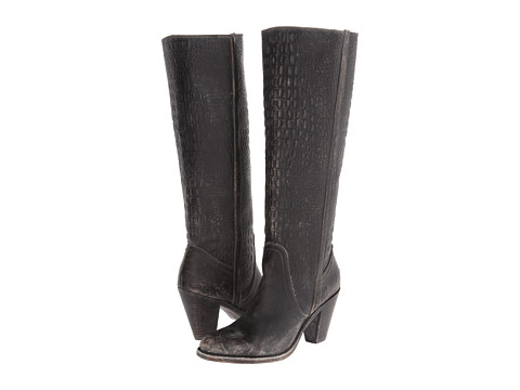 Incaltaminte Femei Frye Mustang Pull On Black Embossed Stone Wash
