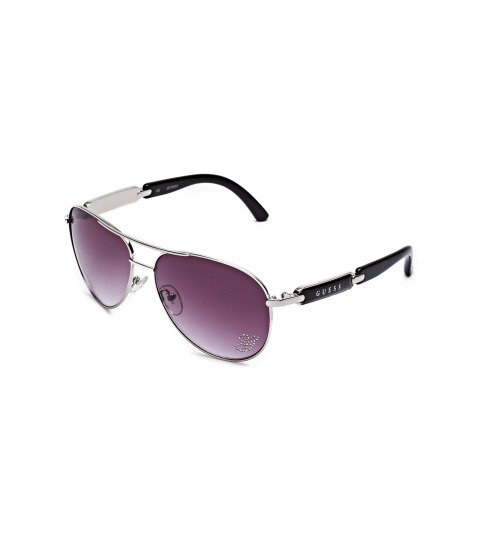 Accesorii Femei GUESS Mirrored Aviator Sunglasses silver