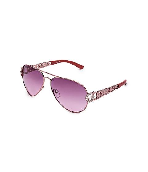 Accesorii Femei GUESS Chain-Link Aviator Sunglasses rose gold