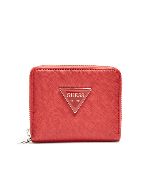 Accesorii Femei GUESS Abree Small Zip-Around Wallet red