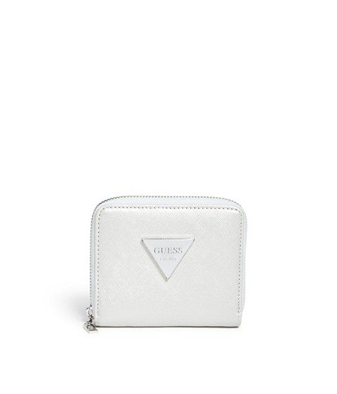 Accesorii Femei GUESS Abree Small Zip-Around Wallet silver