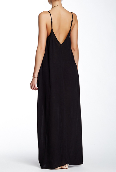 Imbracaminte Femei Love Stitch Gauze Maxi Dress BLACK