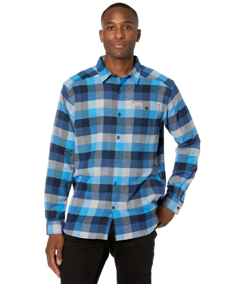 Imbracaminte Barbati Columbia Cornell Woodstrade Flannel Long Sleeve Shirt Azure Blue Multi Buffalo Check image0