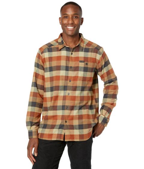 Imbracaminte Barbati Columbia Cornell Woodstrade Flannel Long Sleeve Shirt Dark Amber Multi Buffalo Check image0