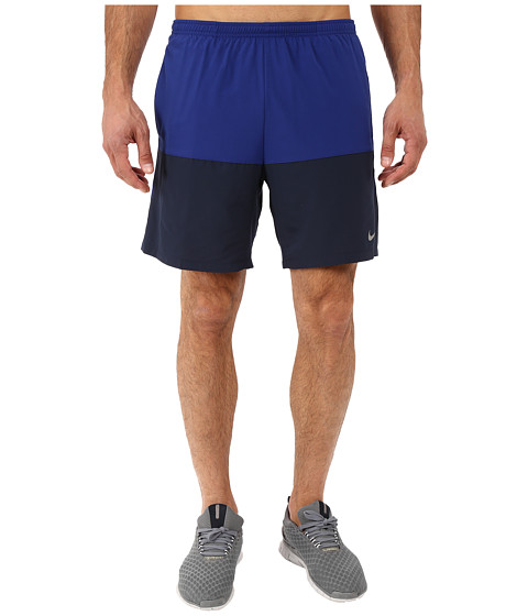 Imbracaminte Barbati Nike 7quot Distance Running Short Deep Royal BlueObsidianReflective Silver