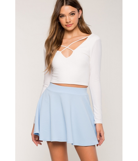 Imbracaminte Femei CheapChic Fearless Skater Skirt Dusty Blue