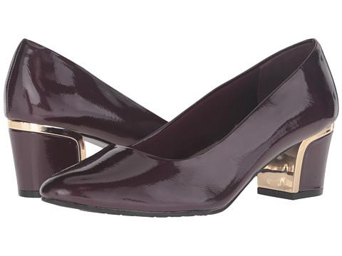 Incaltaminte Femei Soft Style Deanna Sassafras Crosshatch PatentGold Heel