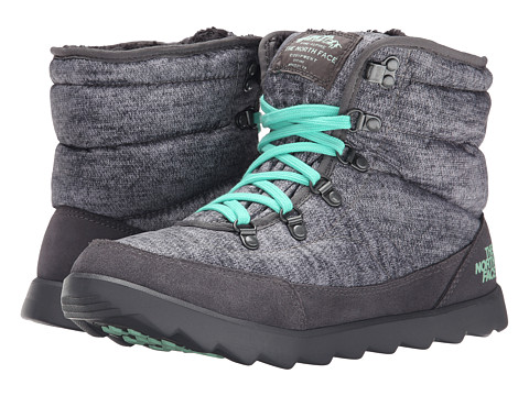 Incaltaminte Femei The North Face ThermoBalltrade Lace Heather GreySurf Green (Prior Season)