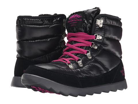 Incaltaminte Femei The North Face ThermoBalltrade Lace Shiny TNF BlackLuminous Pink (Prior Season)