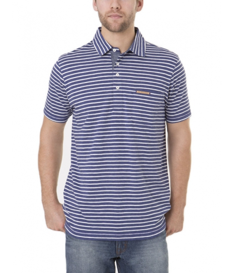 Imbracaminte Barbati US Polo Assn Black Mallet Striped Polo Shirt with Pocket DODGER BLUE HEATHER
