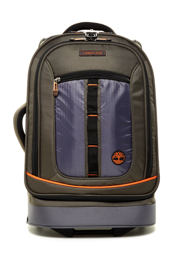 Genti Barbati Timberland Jay Peak 21 Upright Suitcase BURNT OLIVE