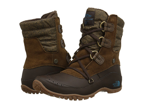 Incaltaminte Femei The North Face Nuptse Purna Shorty Desert Palm BrownStorm Blue (Prior Season)