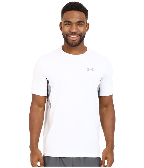 Imbracaminte Barbati Under Armour UA Coolswitch Run Short Sleeve Shirt WhiteSteelReflective
